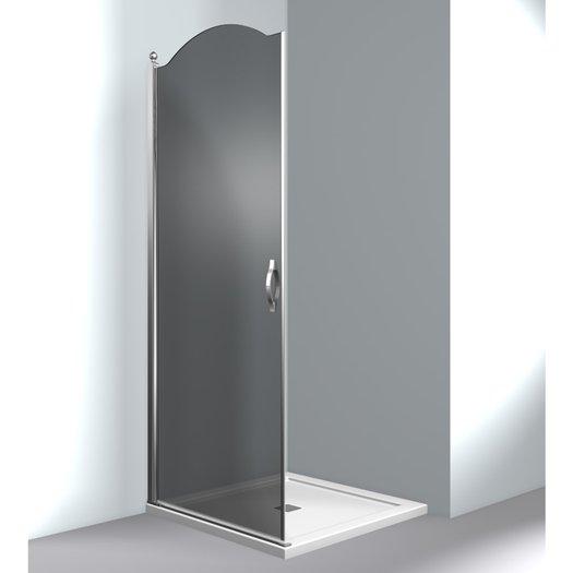 Gold GLA shower door for corner setup