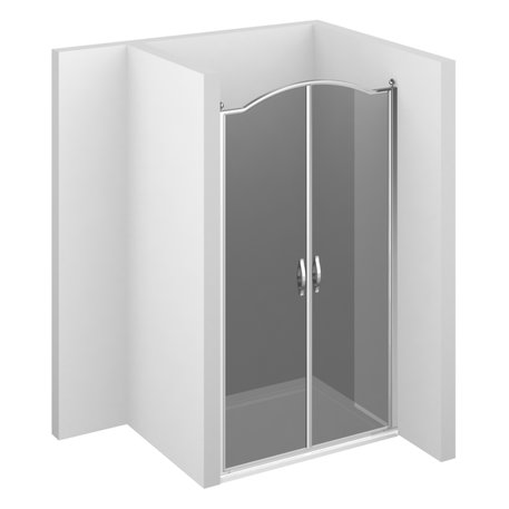 Gold shower enclosure GLB with double door