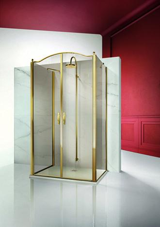 GLG + GLB + GLG Gold U shower setup mood