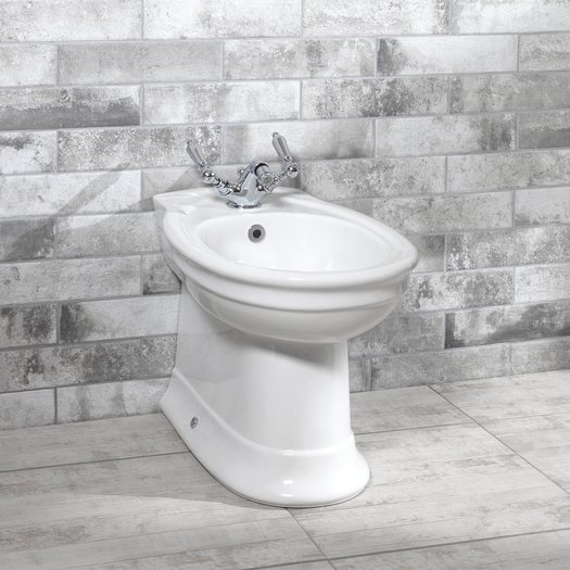 Country style bidet in ceramic