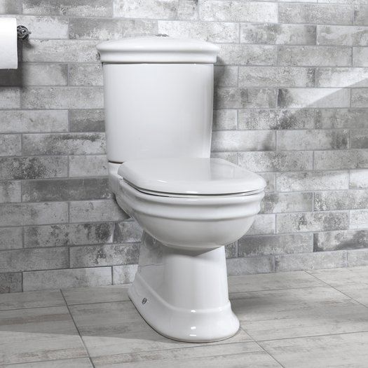 Country style rounded toilet in ceramic