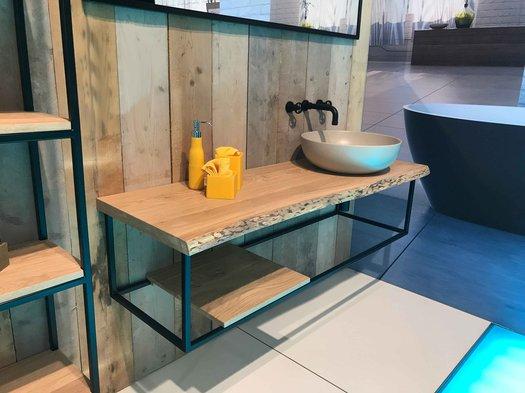 Example of bathroom furniture for freestanding washbasins