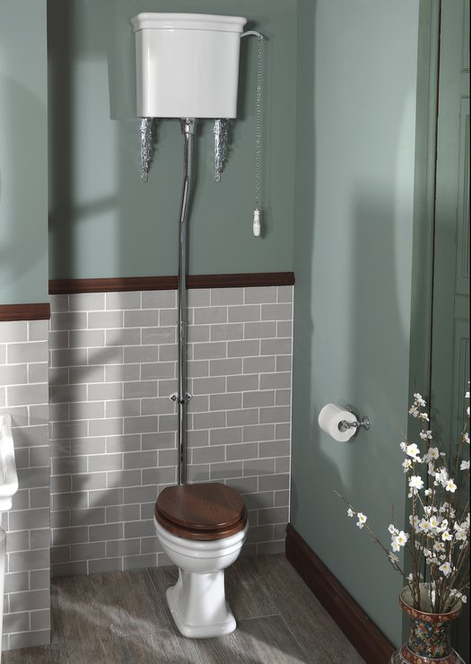 Cottage WC with high level cistern