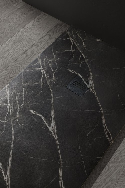 MIRAGE douchevloer in Marquina Negro