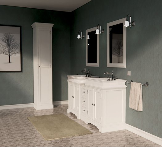 The classic bathroom furniture Majerling with 2 porcelain wash basins