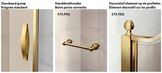 Options for the Gold shower enclosures
