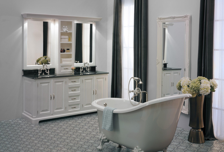 Espace Entre 2 Vasques regent 185 badkamer meubel (2 waskommen)