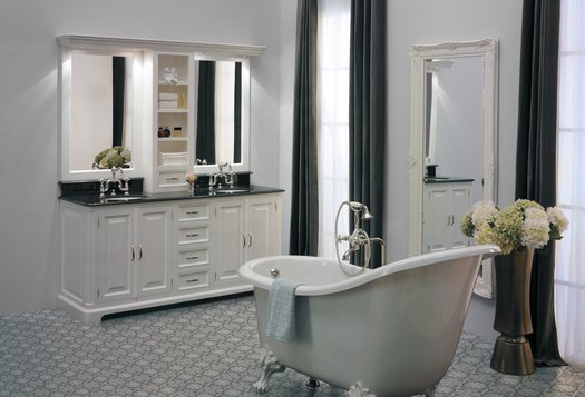 Bathroom Vanity unit Regent 185 in classic style for the cottage bathroom