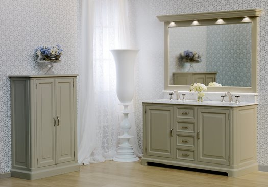 Regent 155 country style bathroom furniture with 2 washbasins