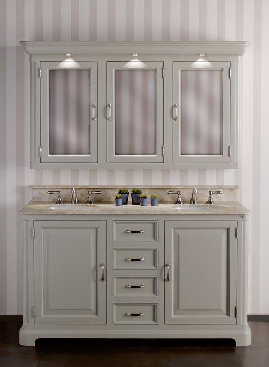 Regent 155 badkamer meubel in klassieke stijl met 2 waskommen