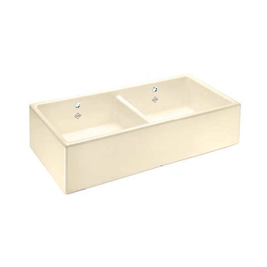 Kitchen sink Shaker Double in biscuit color