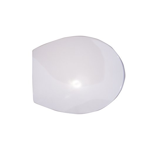 Thermoformed toilet seat in white