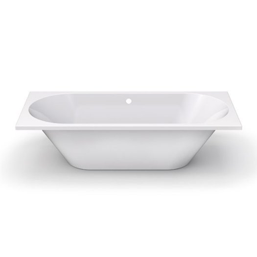 Vibe drop-in bathtub in Duroxite in shinny or mat white