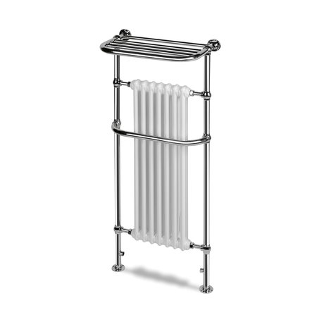 Victoria 8 retro towel heater with shelf and radiator