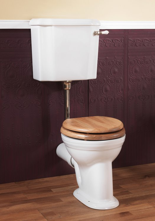 Victorian toilet with low level cistern for the classic style bathroom