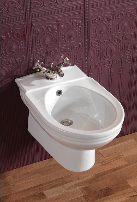 Victorian wall mounted bidet in cottage style