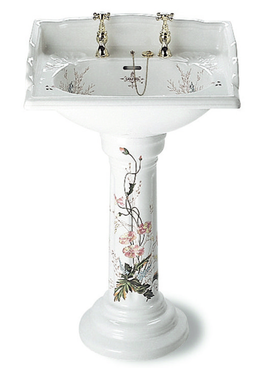 Victorian basin on pedestal in the Victorian garden finish