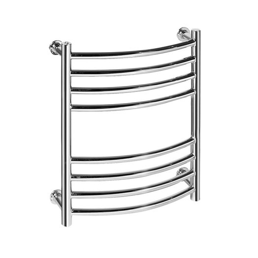 Vision 7 curved towel rail in brass