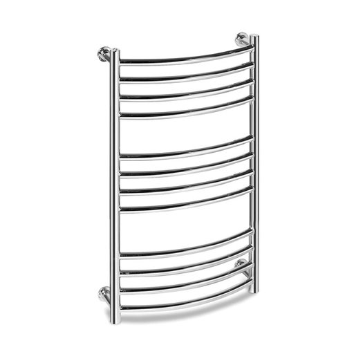 Vision 8 curved towel rail in brass