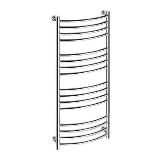 Vision 9 bent towel rail in brass