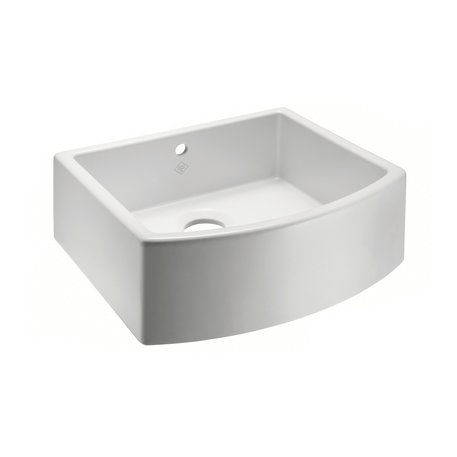 Waterside 600 kitchen sink with curved front