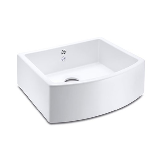 Waterside 800 kitchen sink with curved front