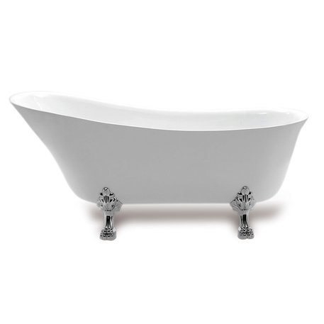 Queenswood bathtub on feet in acrylic