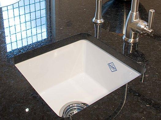Belthorn sink in a granite kitchen countertop