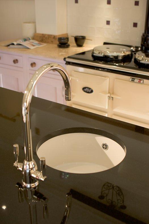 Undermount round kitchen sink