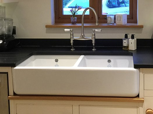 Modern porcelain sink for the designer kitchen