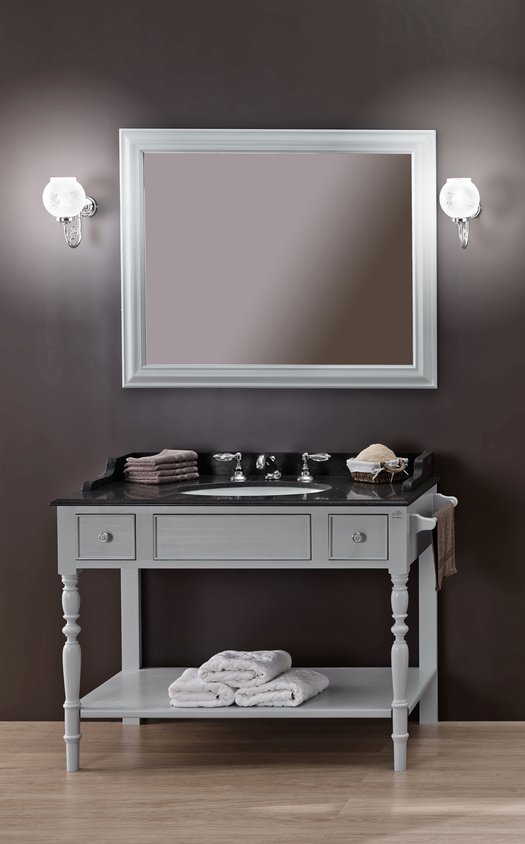 Louis-philippe open bathroom furniture with 1 washbasin