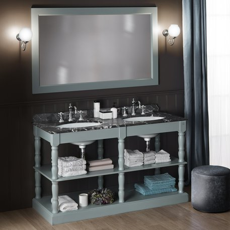 Orléans double washbasin bathroom furniture in cottage style