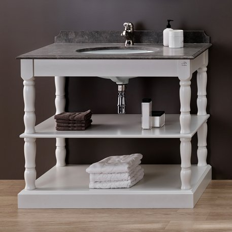 Orléans open washbasin furniture with 1 washbasin and 2 shelves