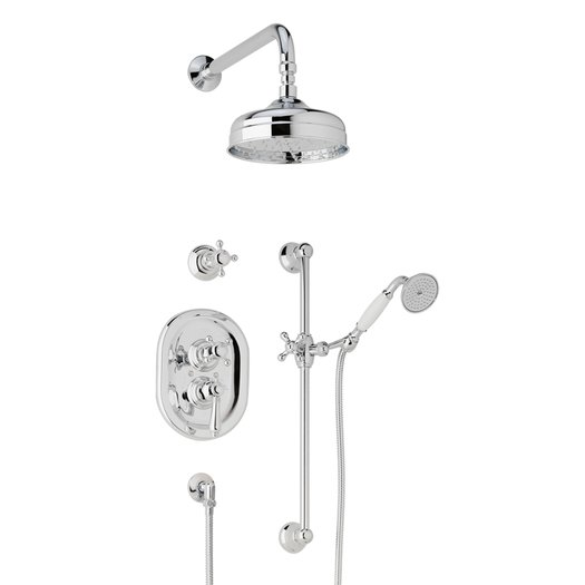Traditional thermostatic shower system 950.912200.xx.xx