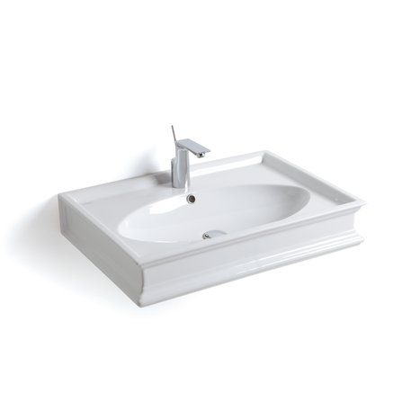 Majerling wall hung or over counter basin in retro style