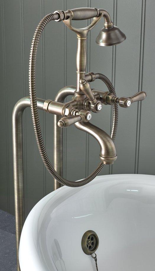 Retro bathtub mixer on floor mounted standpipe kit 950.5574 08