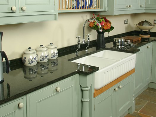 Ribchester 1000 kitchen sink with 2 bowls for the cottage kitchen