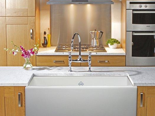 Handsome kitchen sink suitable for retro or designer kitchens