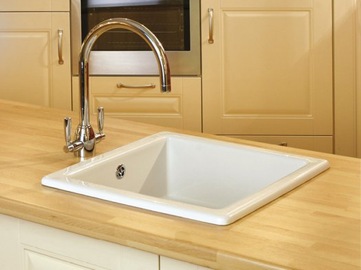 Compact square kitchen sink
