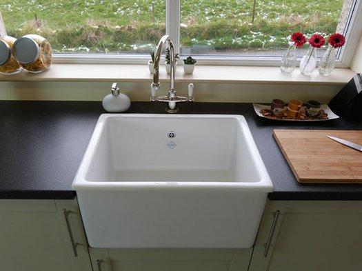 Whitehall kitchen sink in a rustic kitchen