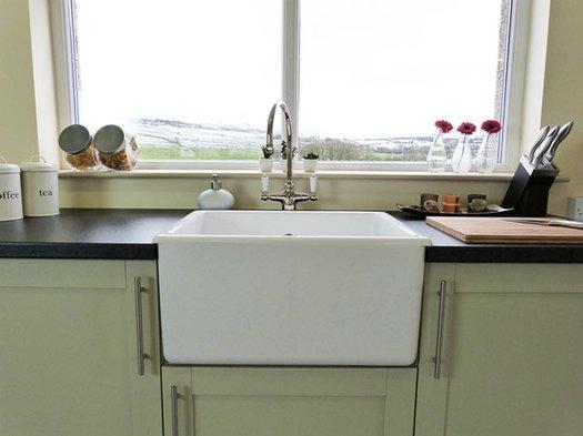 Whitehall kitchen sink in a modern kitchen