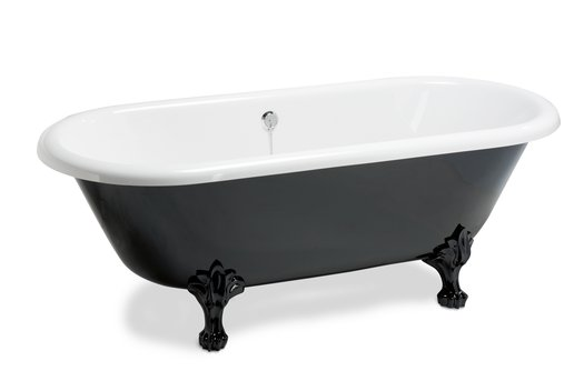 Winston black & white bathtub for the vintage bathroom