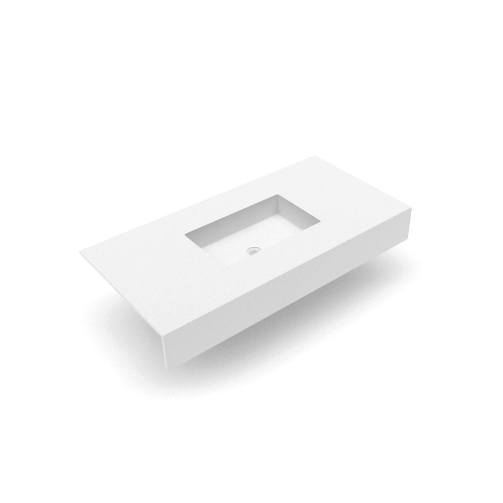 Plan Vasque Sur Mesure pure white 0647.01 & 0647.02