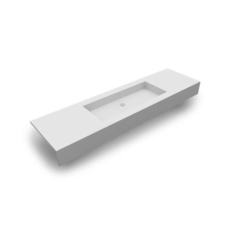 Solid Surface wastafeltablet 0662.01 met een waskom van 105 cm breed