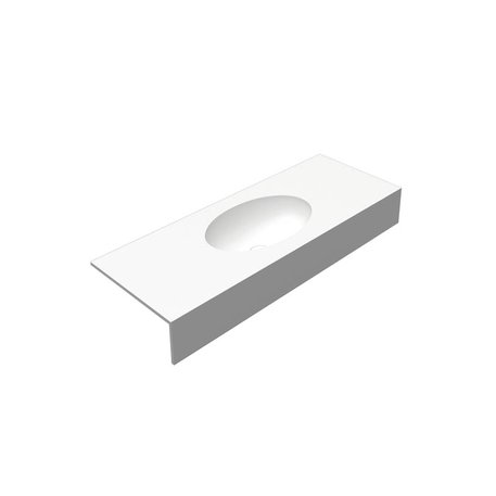 Pure White wastafeltablet 0880.01 met ovalen waskom