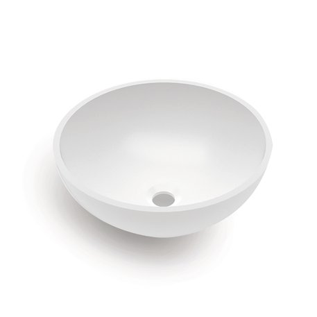 Pure White ronde waskom 108.0651 in Solid Surface