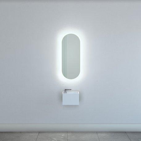 Ovale spiegel met indirecte LED verlichting 40 x 100 cm 115.TATD140100