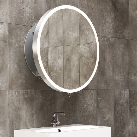 Miroir LED extensible dia. 80 cm 116.011000