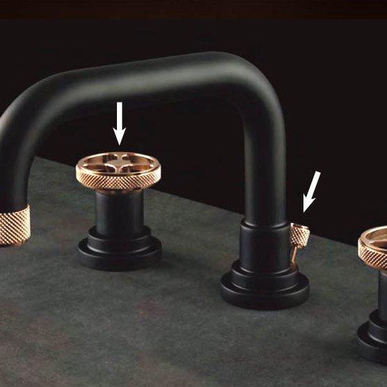Exemple d'un robinet avec 2 finitions