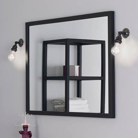 Miroir 590.CS avec cadre en métal noir